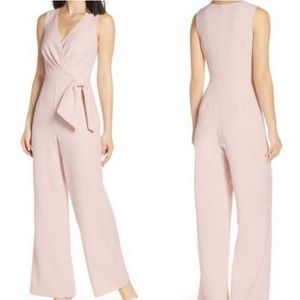 NWT Eliza J Blush Faux Wrap Jumpsuit